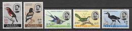 ETHIOPIA - OISEAUX / BIRDS - YVERT 388/392 * /MNH (INFIMES ADHERENCES SUR LA GOMME) - COTE = 20 EUR. - Ethiopie