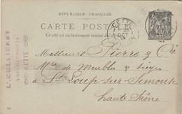 Carte Commerciale 1897 / L. CULLIERET / Ameublement / 34 Cette - Maps