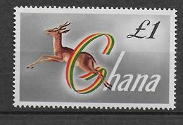 GHANA - ANIMAUX - YVERT 53A * / MLH  - COTE = 15 EUR. - Ghana (1957-...)