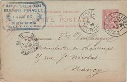 Carte Commerciale 1902 / Eugène PINAULT / Manufacture Cuir / 35 Rennes - Maps