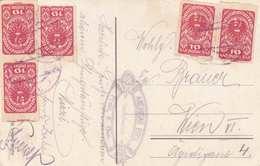 R! Seltene Frankierung Auf Ak PREIN (NÖ) - Raxalpe, Gel.1920?, Frankiert Mit 5 X 10 Heller Marken (5xAnk277, Geschni ... - 1918-1945 1. Republik