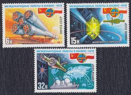 Russia USSR 1978 Cosmos, Joint Flight Russia-Polska, MNH (**) Michel 4735-4737 - 1923-1991 USSR