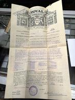 APÓLICE SEGURO ROYAL DEZEMBRO 1926 - Portugal