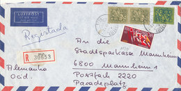 Portugal Registered Air Mail Cover Sent To Germany 17-10-1972 - Airmail