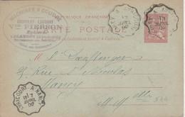 Carte Commerciale 1902 / Von PIERSON / Machines à Coudre Epicerie Chocolat Lombart / 54 Blamont - Maps