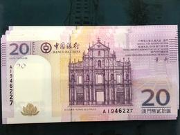 BOC / BANK OF CHINA 2008, 20 PATACAS UNC - Macao