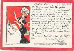 PUBLICITE - Cpa Comprimés VICHY ETAT Effervescents - Illustration GRUN - Werbepostkarten