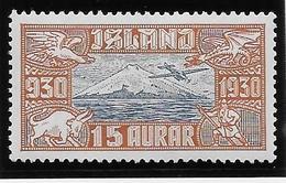 Islande Poste Aérienne N°4 - Neuf * Avec Charnière - TB - Poste Aérienne
