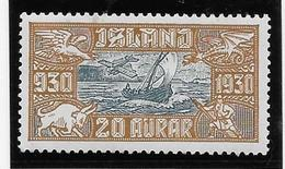 Islande Poste Aérienne N°5 - Neuf * Avec Charnière - TB - Poste Aérienne