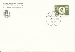 Greenland Card With Shipcancel M/S Kununguak 1-4-1981 - Greenland