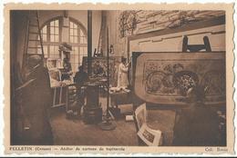 CPA ___ 23 - Felletin ---- Atelier De Cartons De Tapisserie - Felletin