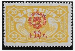 Lituanie N°37 - Neuf * Avec Charnière - TB - Lituanie