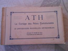 Carnet 10 Cpa Ath Cortege Fetes Communales Geant - Ath