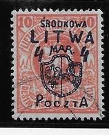 Lituanie Centrale N°2 - Oblitéré - TB - Lithuania
