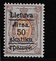 Lituanie Du Sud N°8 - Neuf * Avec Charnière - TB - Litouwen