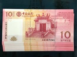 BOC / BANK OF CHINA 2008, 10 PATACAS UNC - Macao