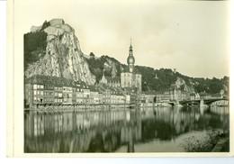 Dinant Le Pont, La Collégiale Et La Citadelle Impression Brillante Sur Carton Vernis Vers 1930 24,4 X 17,5 Cm - Reproductions
