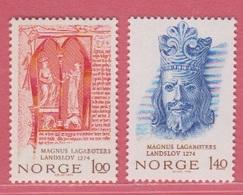 1974 ** (sans Charn., MUH, Postfris)  Yv  639/40Mi  683/4  NHK  731/2 - Norway