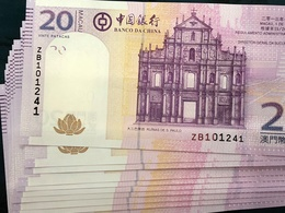 BOC / BANK OF CHINA 2013, 20 PATACAS UNC - ZB PREFIX - Macao