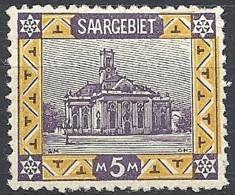 Sarre, 1921 View, 5 M # Michel 67 - Scott 81 - Yvert 66 MINT LH - Unused Stamps