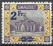 Sarre, 1921 View Ovptd, 2fr On 5m # Michel 81 - Scott 96 - Yvert 80 MINT LH - Unused Stamps