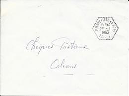 LOIRET 45  -   PIERREFITTE LES BOIS   -  CACHET CORRESPONDANT POSTAUX  - TYPE 8 - 1963 - Marcophilie (Lettres)