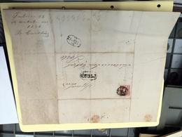 CARTA DATADA DE 1858 COM SELO D PEDRO V CARIMBO PORTO E S.THYRSO - 1855-1858 : D.Pedro V