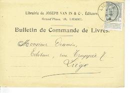 PK Publicitaire LIER 1908 - JOSEPH VAN IN & Cie - Uitgever - Drukkerij - Boekhandel - Lier