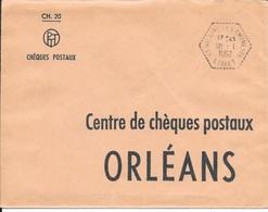 LOIRET 45  -   ST HILAIRE LES AUBRETS   -  CACHET CORRESPONDANT POSTAUX  - TYPE 8 - 1962 - Marcophilie (Lettres)