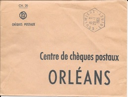 LOIRET 45  -   COULMIERS   -  CACHET CORRESPONDANT POSTAUX  - TYPE 8 - 1963 - Marcophilie (Lettres)