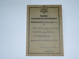 DEUTFCHER REICHSBUND MITGLIEDSKARTE - EXCELLENT ETAT - Books, Magazines  & Catalogs