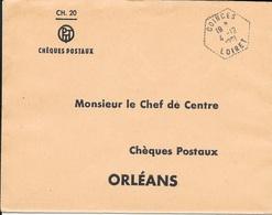 LOIRET 45  -   COINCES   -  CACHET CORRESPONDANT POSTAUX  - TYPE 8 - 1961 - Marcophilie (Lettres)