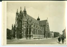 Bruxelles Eglise Du Sablon Impression Brillante Sur Carton Vernis Vers 1930 24,4 X 17,5 Cm - Reproductions