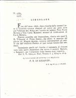 Revoca Dell'Ordine Di Ricerca Di Latitanti Accusati Di Falsificazione Di Carta Bollata Per Avvenuta Prescrizione, 1819 - Decreti & Leggi