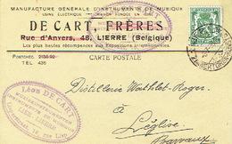 PK Publicitaire LIER 1938 - DE CART FRERES - Fabrique D'instruments De Musique - Fabriek Muziekinstrumenten - Lier