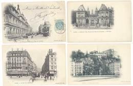4 Cpa Lyon - Hôtel De Ville, Rues, Palais De La Bourse, Tramway ... ( S. 3143 ) - Lyon