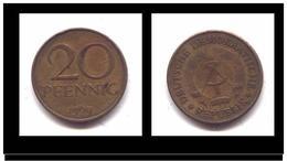 ALLEMAGNE - REPUBLIQUE DEMOCRATIQUE - 20 PFENNING 1969 - [ 6] 1949-1990 : GDR - German Dem. Rep.