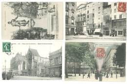 4 Cpa Lyon - Rues, église, Place  ... ( S. 3144 - Lyon