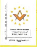MAV 569g - COLLOQUE INTERNATIONAL MACONNIQUE - Timbre émis En 110 Exemplaires Seulement(don 5 Carnets De 4) - Freemasonry