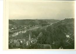 Dinant Panorama Près De Crèvecoeur Impression Brillante Sur Carton Vernis Vers 1930 24,4 X 17,5 Cm - Reproductions