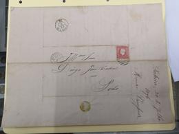 CARTA DATADA DE 1876 COM SELO D LUIZ I CARIMBO PORTO 21/7/76 E STº THYRSO - Cartas