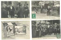 4 Cpa Lyon - Rues, Martinière, Voyage Présidentiel, Poincaré, ... ( S. 3145 ) - Lyon