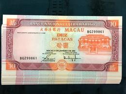 BNU - BANCO NACIONAL ULTRAMARINO 2001 - 10 PATACAS UNC - Macao
