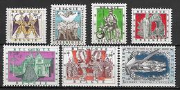 BELGIQUE   -   1957.   Y&T N° 1039 à 1045 **.   Oeuvres Antituberculeuses.  Série Complète. - Belgique