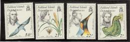 V12 - FALKLAND ISLANDS DEPENDENCIES - 149/152** MNH De 1985 - Explorateurs Naturalistes. - Falkland