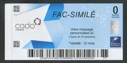 """Fac-Similé """"Chèque Cado De 0€ - La Banque Postale"""" Chèque Cadeau De Zéro Euro - La Poste - Fictifs & Spécimens"""