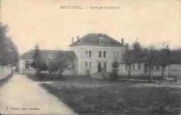Cpa 38 Morestel , Groupe Scolaire , écrite 1914 - Morestel