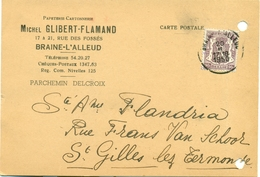 Papeterie Cartonnerie Michel Glibert - Flamand à Braine-l'-Alleud - 1950 - Imprenta & Papelería