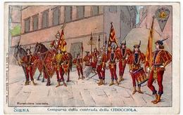 SIENA - COMPARSA DELLA CONTRADA DELLA CHIOCCIOLA - Vedi Retro - Formato Piccolo - Siena