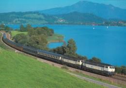 1954575Diesel-Streckenlokomotive 218 440-4 + 218 418-2 (Karte 21-15) - Trains